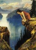 woman at precipice