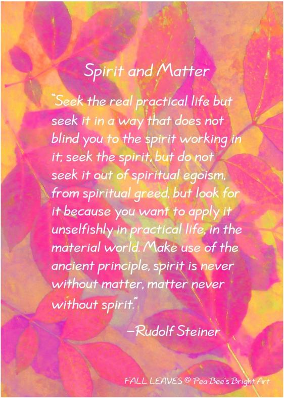 Spirit and Matter R.  Steiner